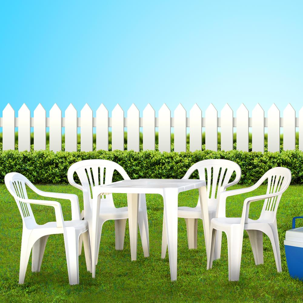 Oferta Conjunto Mor Bela Vista Mesa+4 Cadeiras - Branco por R$ 247.41