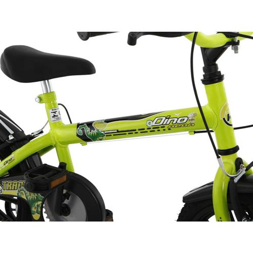 7d2045072 Bicicleta Infantil Track Dino Neon AN Aro 16 com Apoio Lateral Freios  V-Brake