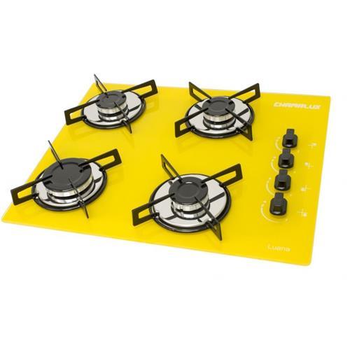 Cooktop Chamalux Ultra Rápido 4 Bocas com Acendimento Automático Amarelo - Bivolt