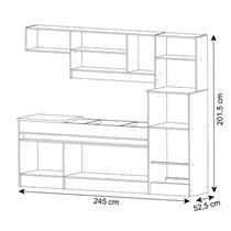 Cozinha Compacta Decibal Open 8 Portas e 4 Gavetas
