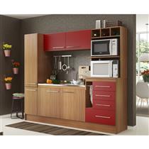 Cozinha Compacta Decibal New Hannover 6 Portas e 4 Gavetas