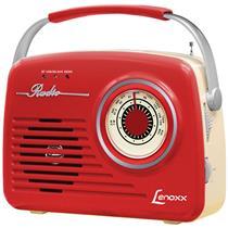 Rádio Retrô Portátil Lenoxx RB-80 com Bluetooth Entrada USB Auxilia...