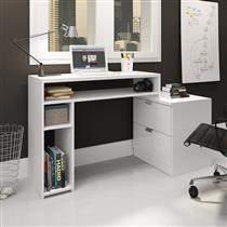 Mesa para Escritório MovelBento MSM420 com 2 Prateleiras e 2 Gavetas