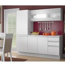 Cozinha Compacta Madesa Smart 7 Portas 3 Gavetas com Tampo