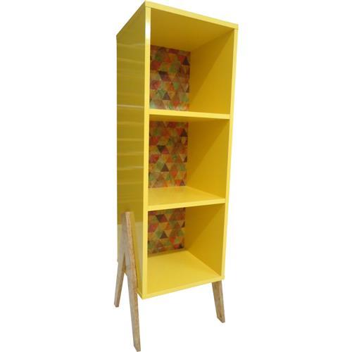 Estante Rústica 0380 Phorman 100% MDF - Amarelo/Triângulo