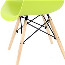 Cadeira Confort Planeta Casa PC082 Base Eiffel Eames com Braços