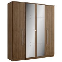 Guarda-Roupa Casal THB Splendore Plus Glass 4 Portas e 2 Gavetas com Espelho