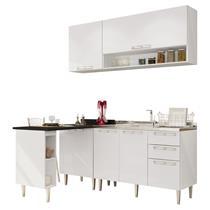Cozinha Modulada Art In 5 Peças 5 Portas e 3 Gavetas – Branco/Preto