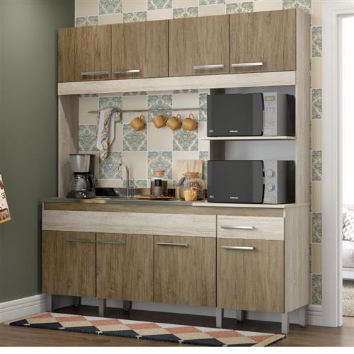 Cozinha Compacta Decibal Tulipa 8 Portas e 1 Gaveta
