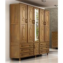 Guarda-Roupa Casal Cavazotto Paris com 5 Portas 6 Gavetas e Espelho