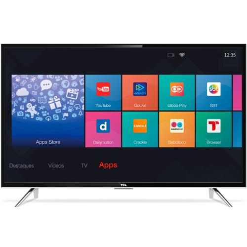 "Smart TV LED Full HD 43"" Semp TCL com Conversor Digital Wi-Fi 3 HDMI 2 USB L43S4900FS"