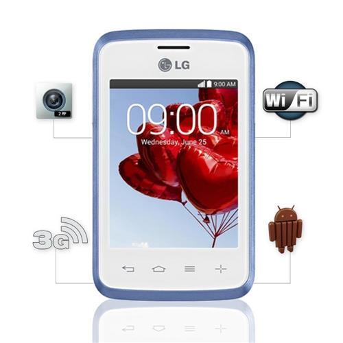 """e3030f2cf2f Celular LG L20 D100 Single Chip com Tela 3"""" Android 4.4 Câmera 2MP 3G Wi-Fi  Bluetooth Processador Dual Core 1 GHz Desbloqueado"""