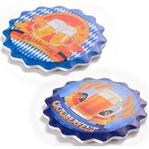 Porta Copos 2 Peças Decor Glass Oktoberfest Cerâmica 11cm