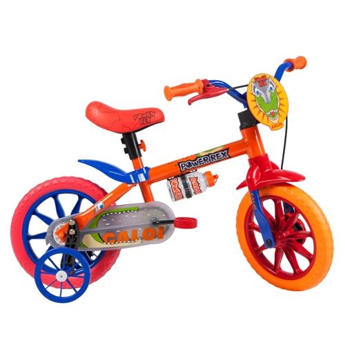 Bicicleta Caloi Power Rex Aro 12 Rígida 1 Marcha - Laranja