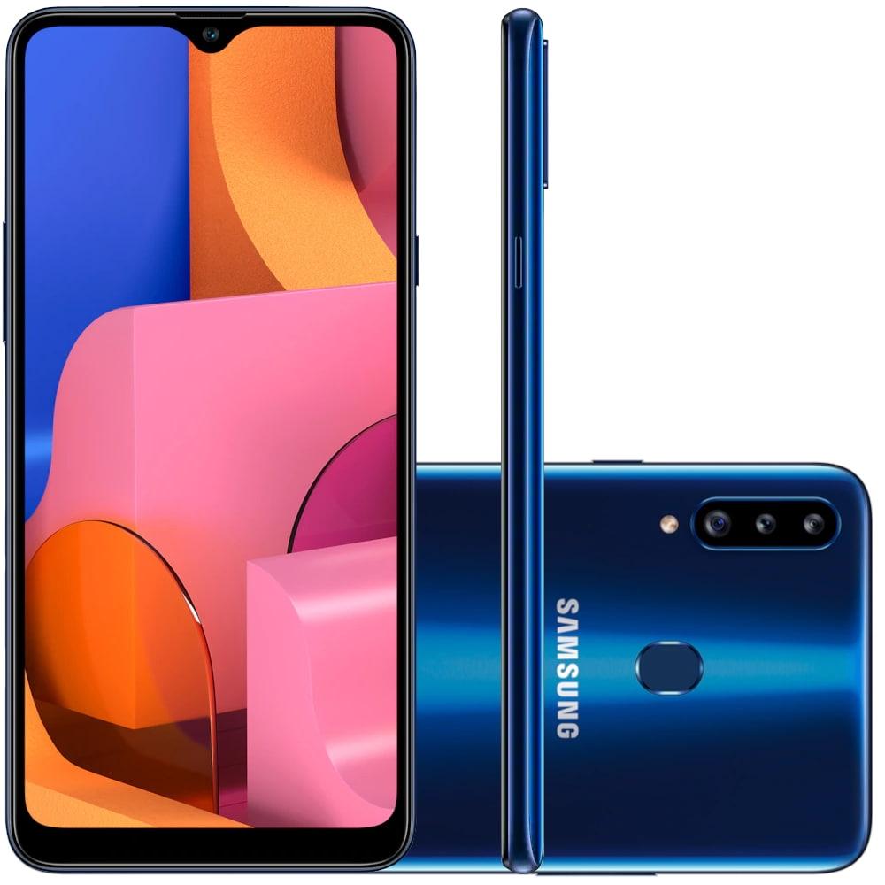 Smartphone Samsung Galaxy A20s 32GB Câmera Tripla 13MP + 8MP...